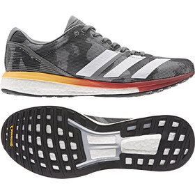 adidas Adizero Boston 8 Zapatillas Corte Bajo Hombre, grey four/footwear white/flash orange